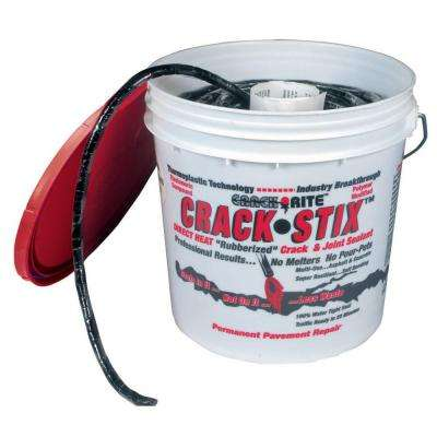 10 lb. 125 ft. Medium Black Permanent Blacktop Crack Filler