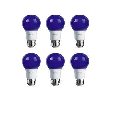 60-Watt Equivalent A19 Non-Dimmable Purple LED Colored Light Bulb (6-Pack)