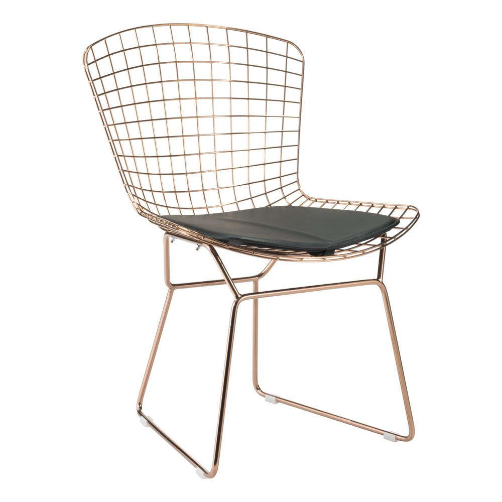 ZUO Black Mesh Wire Outdoor Chair Cushion