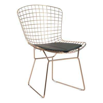 Black Mesh Wire Outdoor Chair Cushion