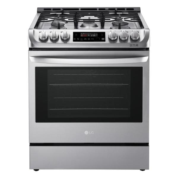 6.3 cu. ft. Slide-In Gas Range with ProBake Convection Oven with EasyClean in Stainless Steel