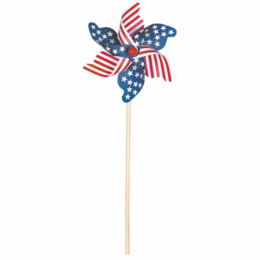 18 in. Patriotic Wood Pinwheel (4-Pack)