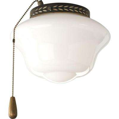 AirPro 1-Light Antique Bronze Ceiling Fan Light-DISCONTINUED
