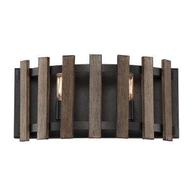 2-Light Sapele Bath Light