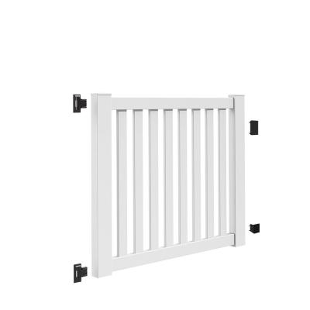 Ohio 5 ft. W x 4 ft. H White Vinyl Un-Assembled Fence Gate