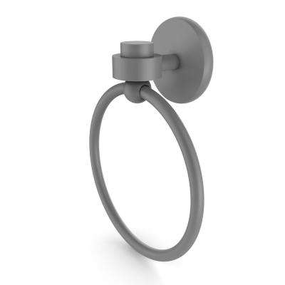 Satellite Orbit One Collection Towel Ring in Matte Gray