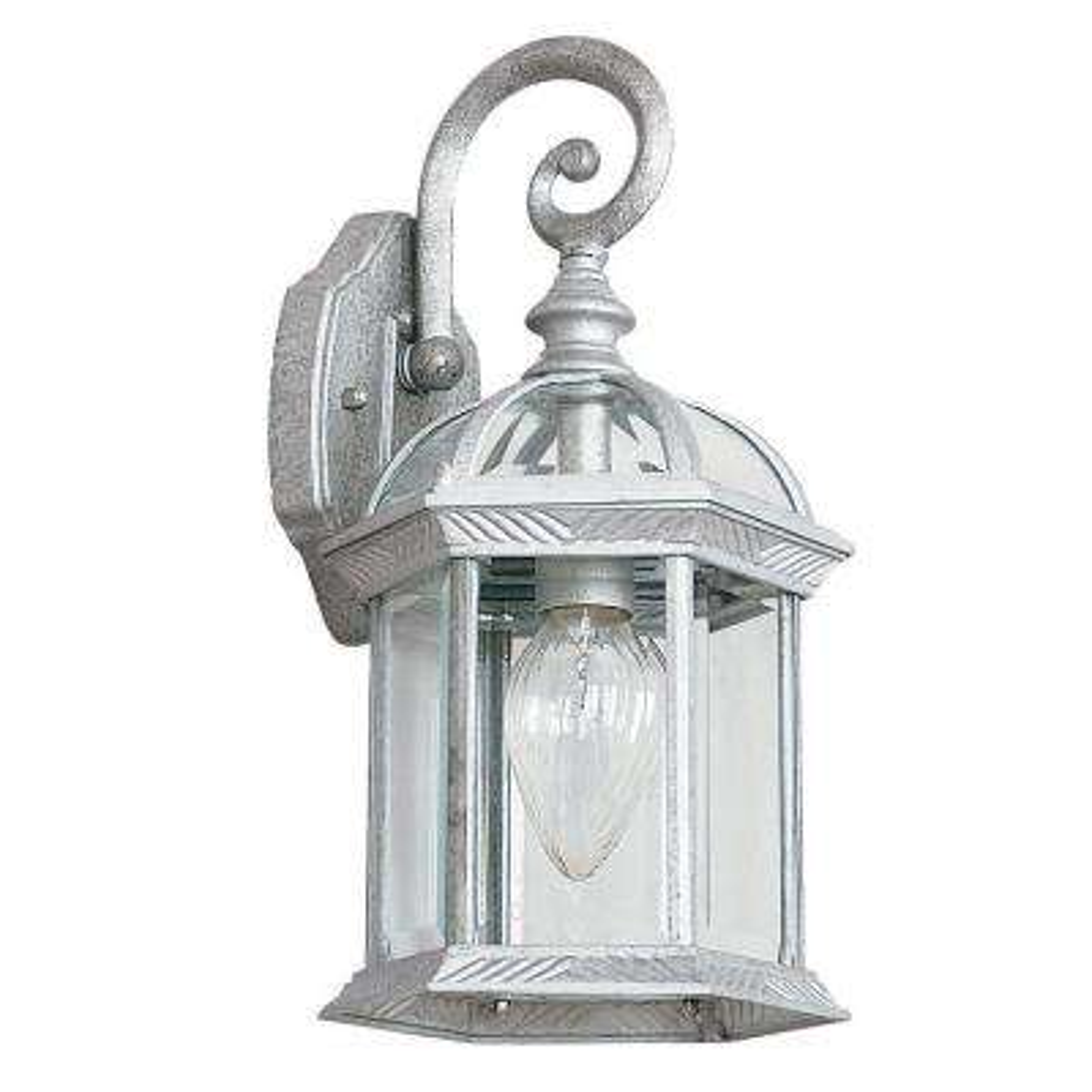 Presbury 1-Light Tuscan Silver Outdoor Wall Lantern