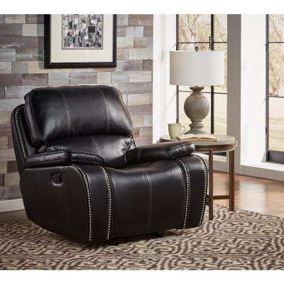 Alpine Black Rocker Recliner