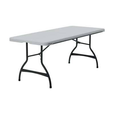 White 26-Pack Stacking Folding Table
