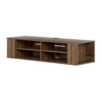 City Life Natural Walnut TV Stand up to 48 in.