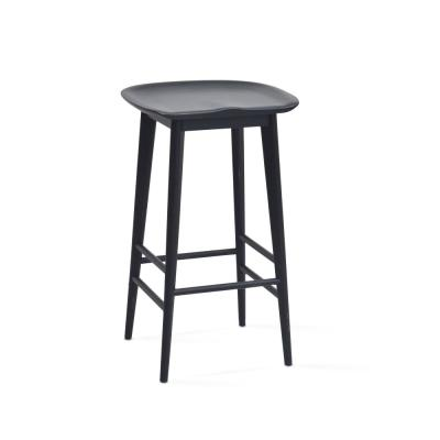 Hilton 24 in. Black Counter Stool