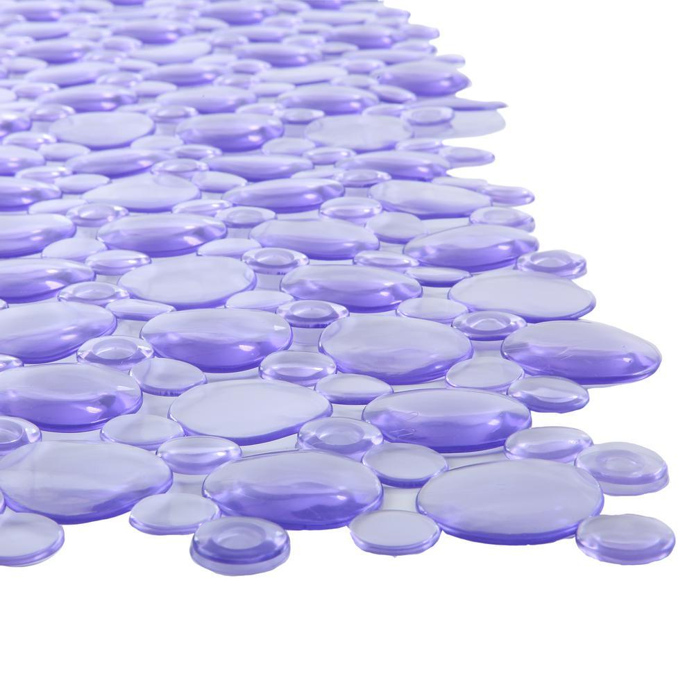 17 in. x 30 in. Burst of Bubbles Bath Mat in Light Purple