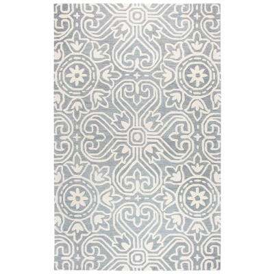 Opulent Gray/Ivory 8 ft. x 10 ft. Rectangle Area Rug