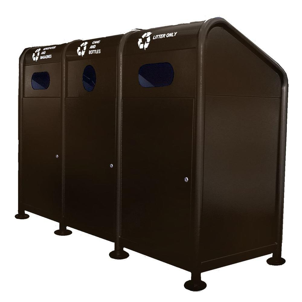 102 Gal. Steel Recycling Station in Brown