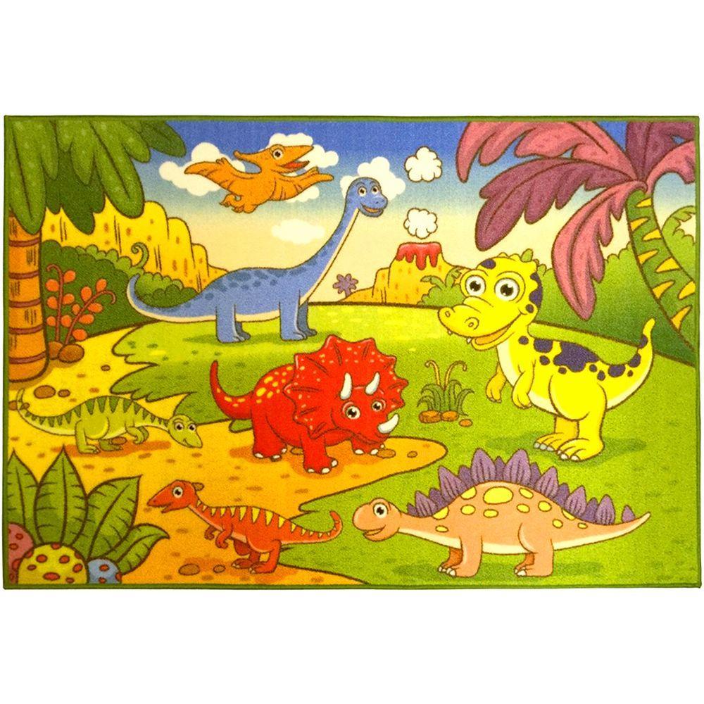 Children's Dinosaurs Multi 5 ft. x 7 ft. Area Rug
