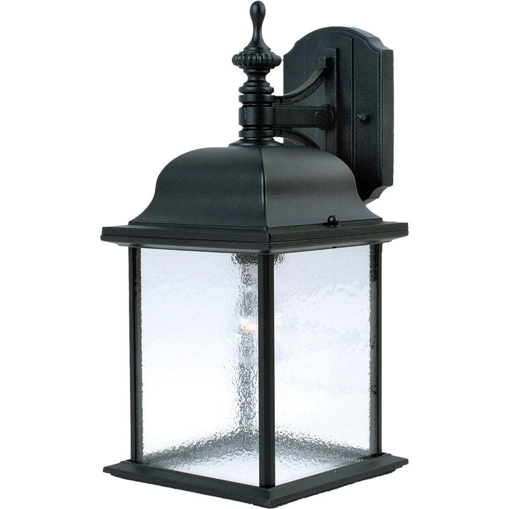Senator 1-Light Black Outdoor Wall Lantern Sconce