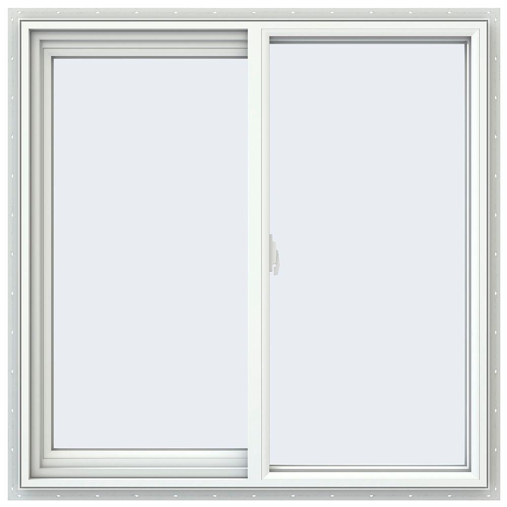 Jeld wen 35 5 in x 35 5 in v 2500 series left hand for Vinyl sliding windows
