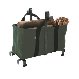 Click here to buy Enclume 2.5 ft. Carrier Bag Log Rack with Hammered Steel Finish by Enclume.