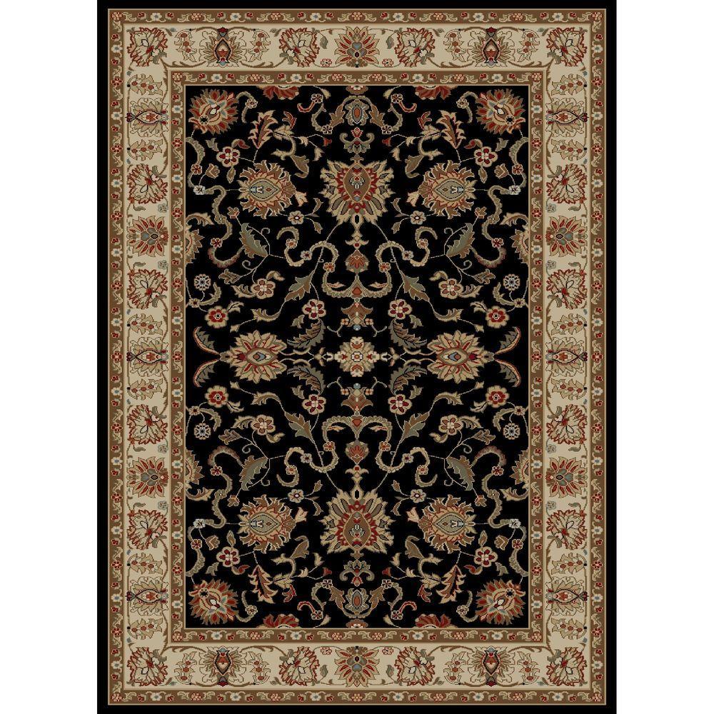Ankara Agra Black 7 ft. 10 in. x 10 ft. 10 in. Area Rug