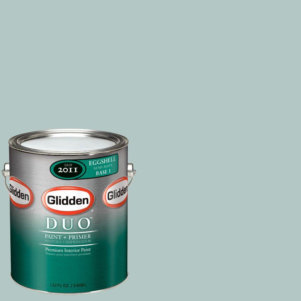 Glidden DUO Martha Stewart Living 1-gal. #MSL119-01F River Mist Eggshell Interior Paint with Primer - DISCONTINUED