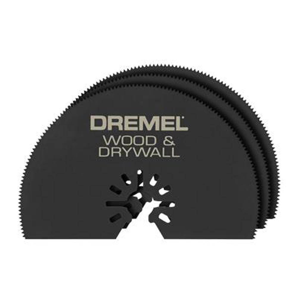 Dremel Multi-Max 3 in. Universal Oscillating Tool Wood and Drywall Saw Blade (3-Pack)