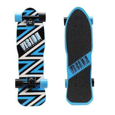 26 in. Mini Cruiser Skateboard in Ripper Style Blue Graphic