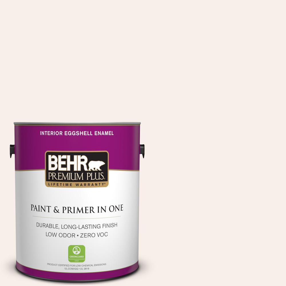 BEHR Premium Plus 1-gal. #W-B-100 Billowy Clouds Zero VOC Eggshell Enamel Interior Paint