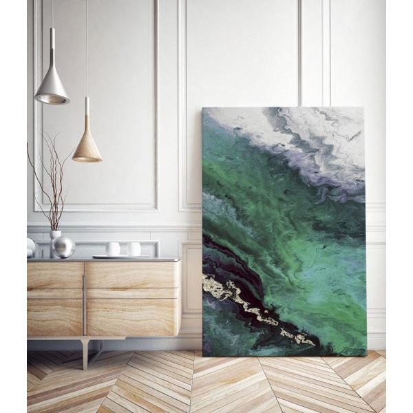 Clicart 11 In X 14 In Green Shore Line From Above By Eva Watts Wall Art Piew081 1114mm The Home Depot