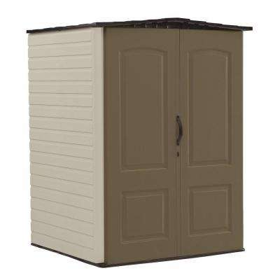 6 ft. 5 in. H x 4 ft. 4 in. W x 4 ft. 7 in. D Medium Vertical Resin Shed