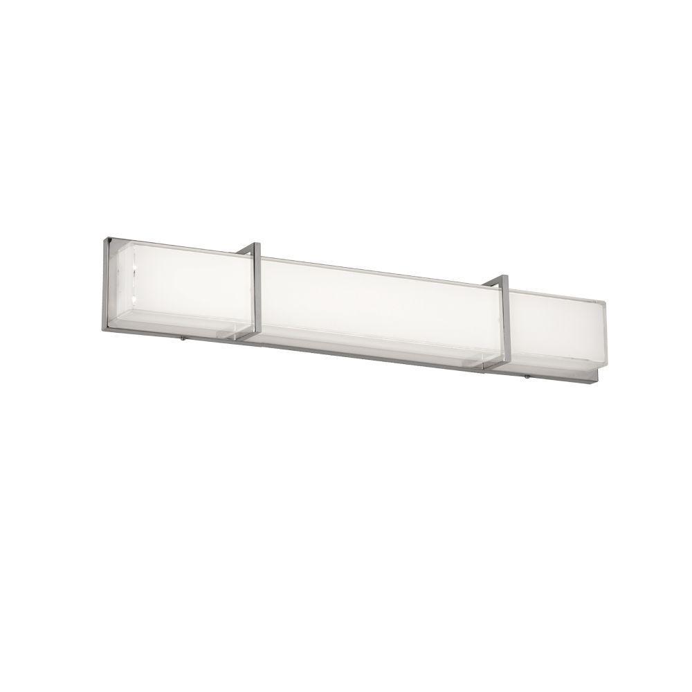 Tech Lighting Home Depot: Radionic Hi Tech Viceral 1-Light 32 In. White Vanity Light