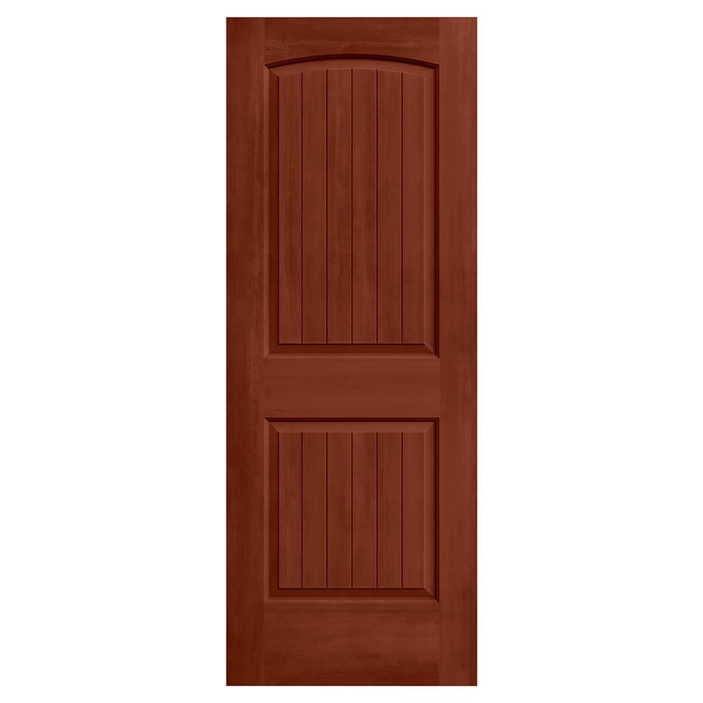 28 in. x 80 in. Santa Fe Amaretto Stain Solid Core Molded Composite MDF Interior Door Slab