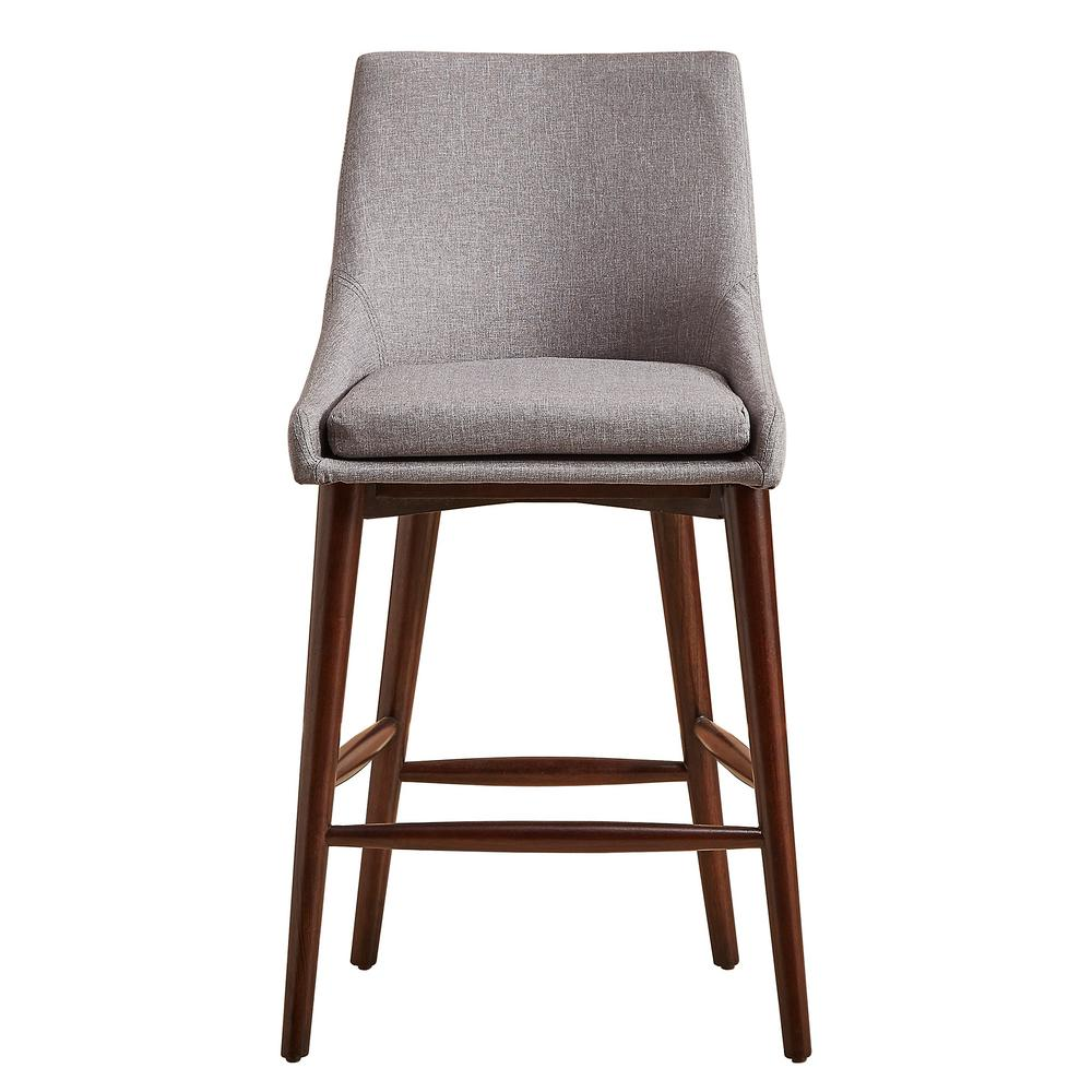 Nobleton grey mid century bar stool set of 2
