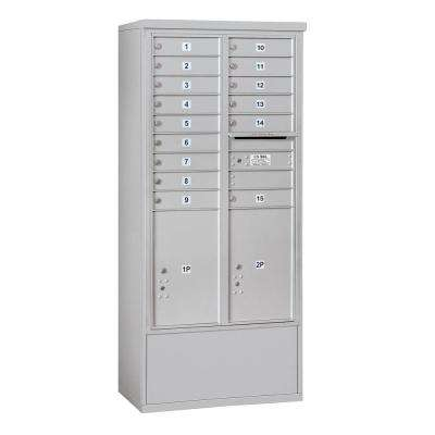 3900 Horizontal Series 15-Compartment 2-Parcel Locker Free Standing Mailbox