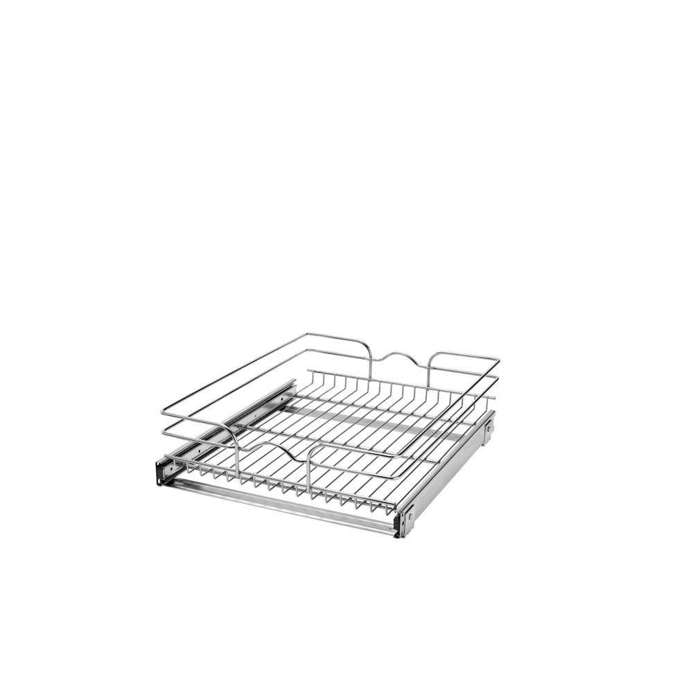 Rev-A-Shelf 7 in. H x 17.75 in. W x 22 in. D Base Cabinet Pull-Out Chrome Wire Basket