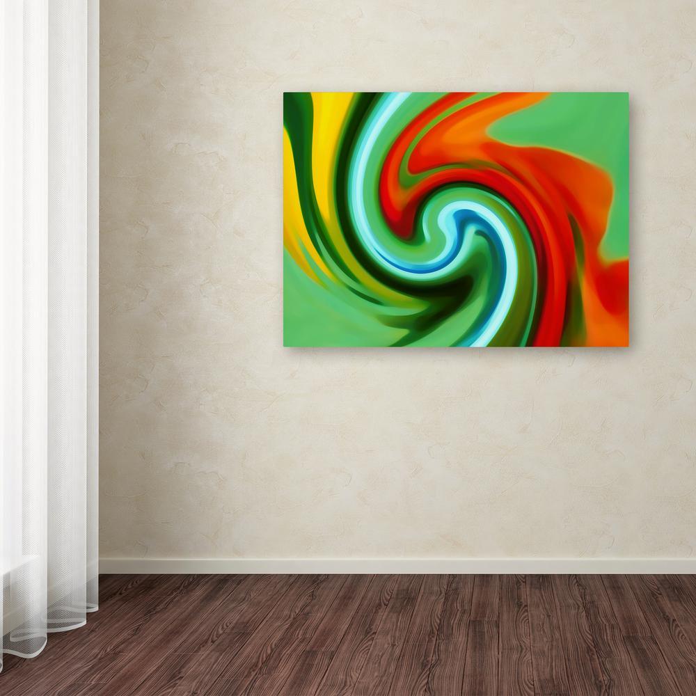 Trademark Fine Art 18 in. x 24 in. ''Abstract Flower Unfurling