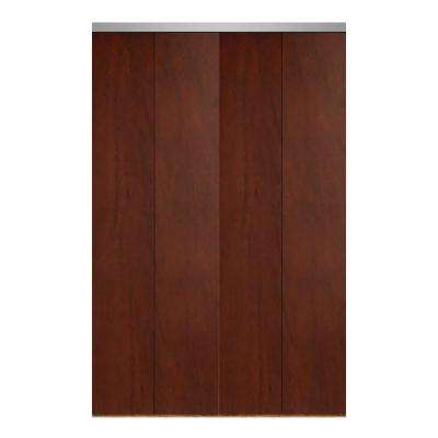 Cherry bi fold doors interior closet doors the home depot smooth flush solid core primed mdf interior closet bi fold door with chrome trim planetlyrics Image collections