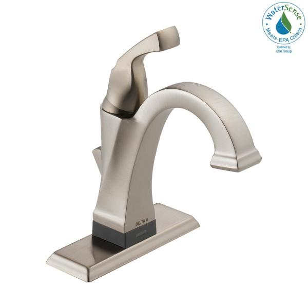 Dryden Single Hole Single-Handle Bathroom Faucet with Touch2O.xt Technology in Stainless