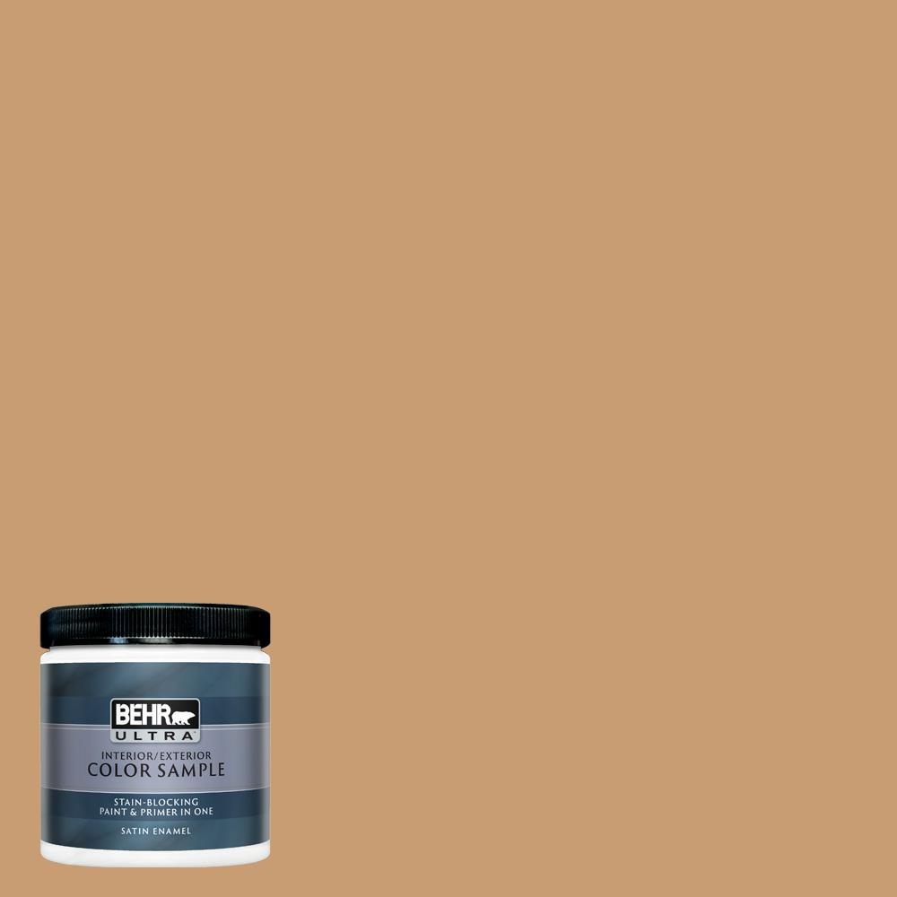 Behr Ultra 8 Oz S270 5 Gingersnap Satin Enamel Interior Exterior Paint And Primer In One Sample Ul22416 The Home Depot