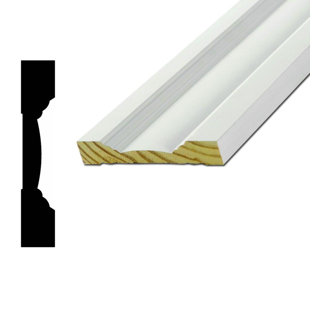 WM650 11/16 in. x 4-1/4 in. Primed Finger-Jointed Pine Casing Moulding