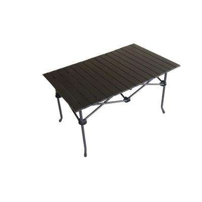 Large Aluminum Roll Slate Graphite Grey Rectangular Table