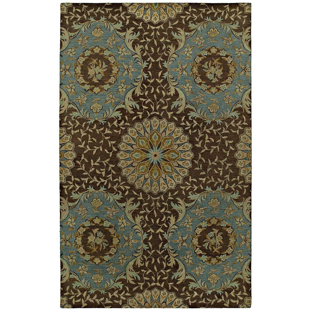 Kaleen Magi San Pablo Chocolate 5 ft. x 7 ft. 9 in. Area Rug