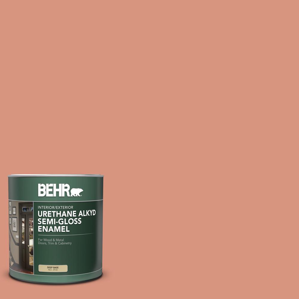BEHR 1 qt. #BIC-17 Tropical Blooms Semi-Gloss Enamel Urethane Alkyd Interior/Exterior Paint