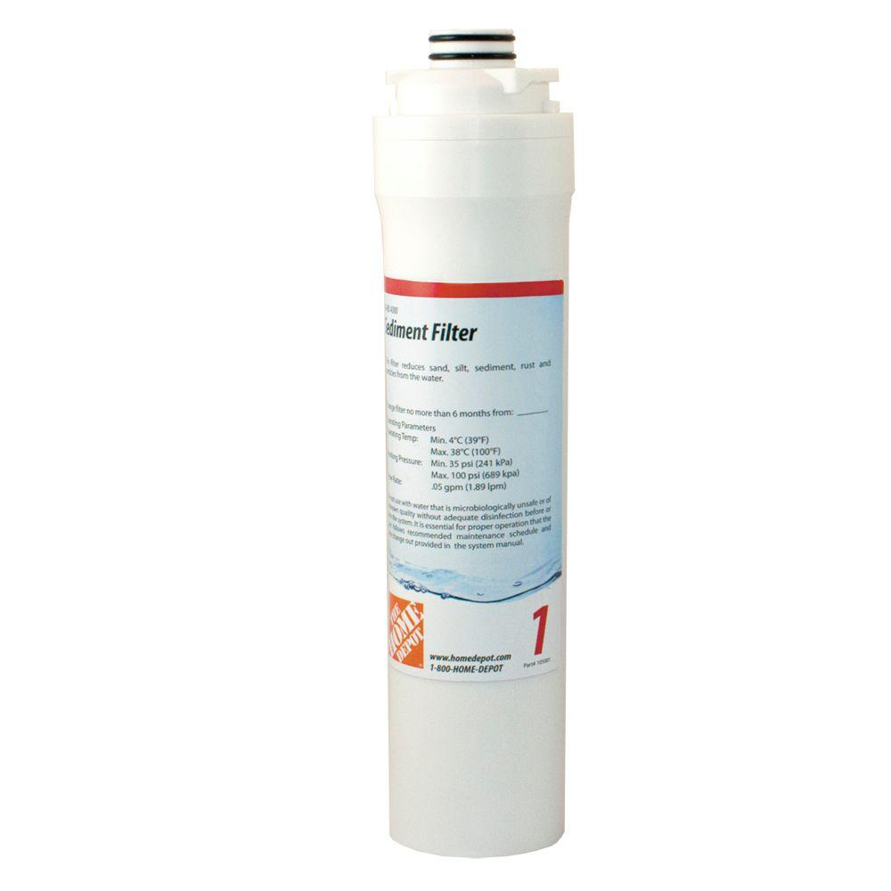 null Sediment Filter Replacement Cartridge for HD-RO 4000, Reverse Osmosis Drinking Water System 105001