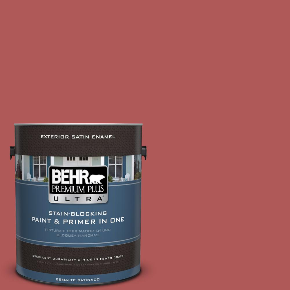 1-gal. #160D-6 Pottery Red Satin Enamel Exterior Paint