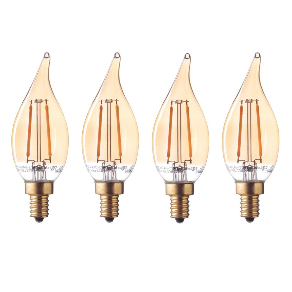 Globe Electric 40-Watt Equivalent CA11 Dimmable Vintage