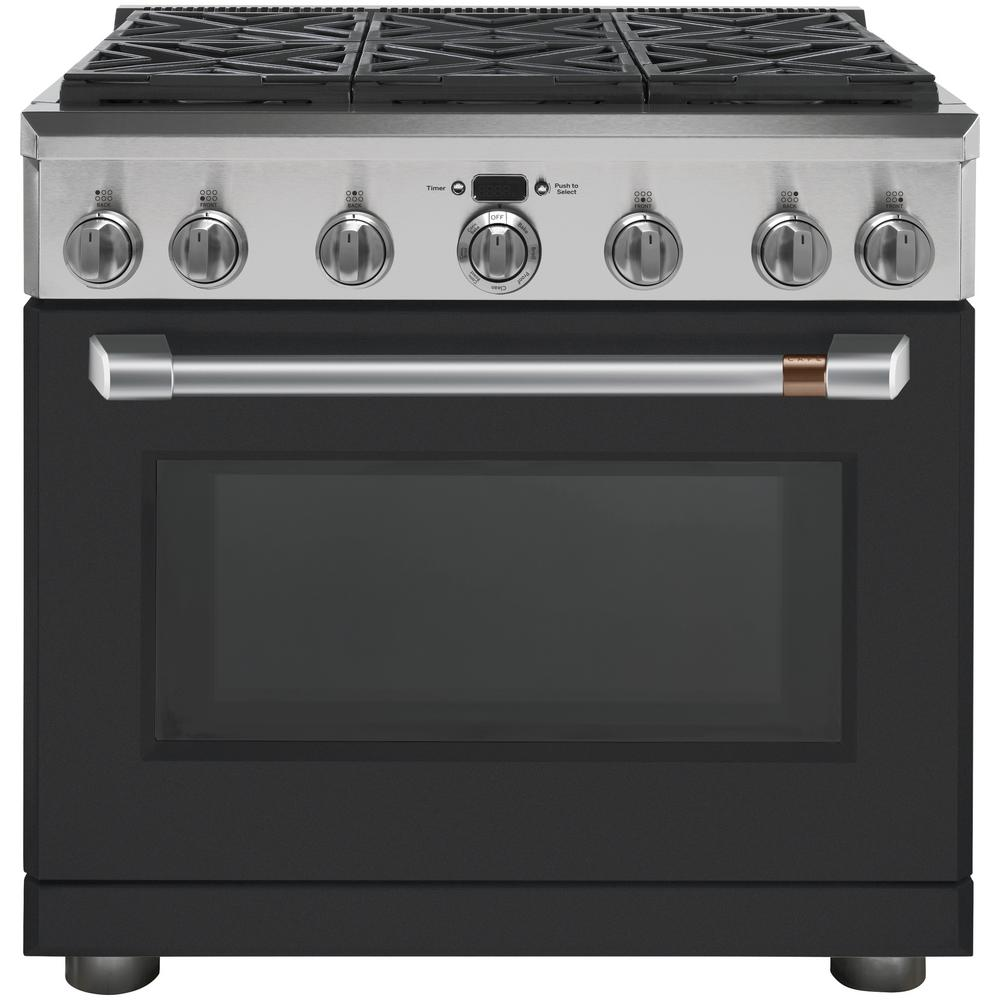 36 in. 5.8 cu. ft. Dual Fuel Range with Self-Cleaning Convection