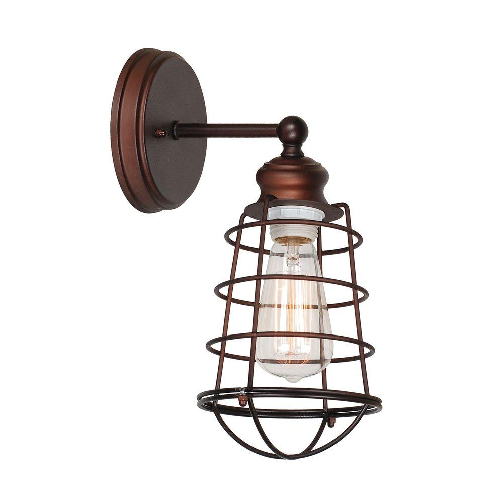 design house ajax collection 1-light textured coffee bronze indoor