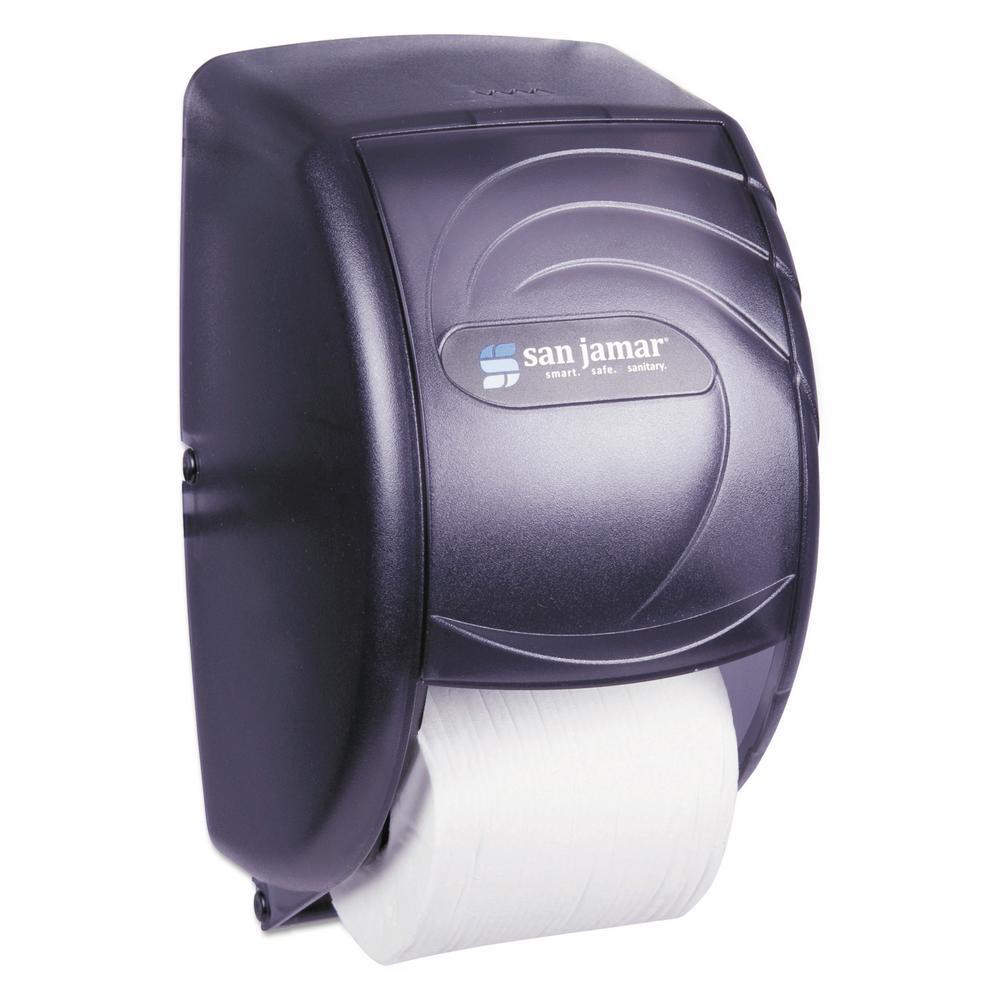 San Jamar Standard Black Pearl Duett Toilet Tissue Dispenser