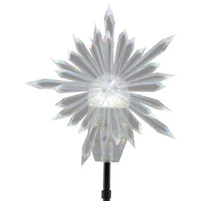 19.29 in. Projection Tree Topper-Kaleidoscope-Starburst (White)