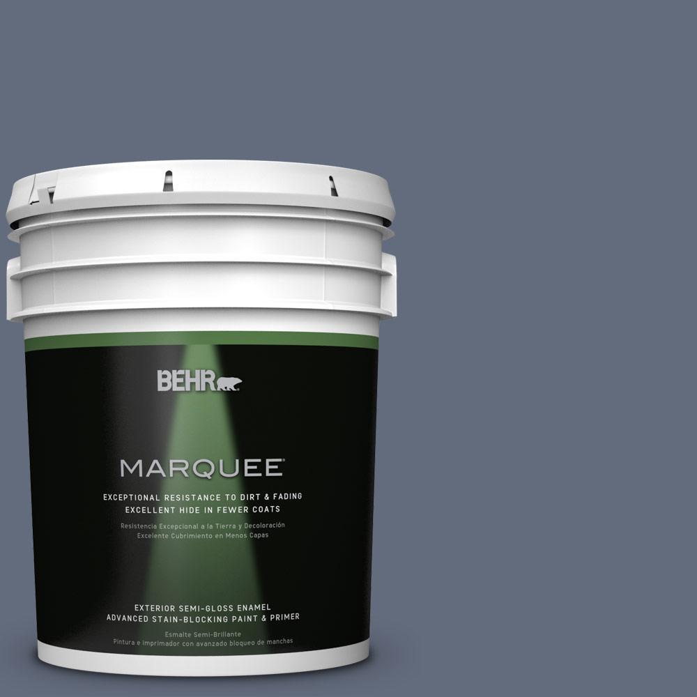 5-gal. #BNC-29 Dark Room Semi-Gloss Enamel Exterior Paint